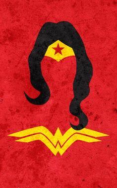 Minimalist Superheroes: Wonder Woman