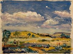 Walter Battiss, Pretoria East landscape with a view from Menlo Park & the Bronberg in the distance Walter Battiss, South African Art, Menlo Park, Pretoria, Distance, Landscape, Tanks, Dragons, Artwork