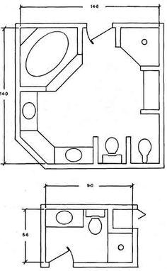 Master Bathroom Layout - Bing Images minus the bidet