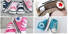 Are you a fan of Converse sneakers? I mean, who is not right? We all love them. Today I will show you video tutorial and give you written patterns for these awesome stylish shoes. This time in crochet version, for little babies.   Scroll down to find written patterns. ADORABLE! Don't fo
