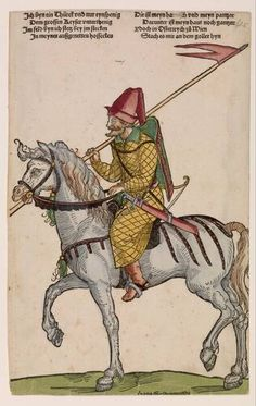 c. 1530 Niklas Stoer - Turkish Horseman. The print run of Mercenaries and Turks is a fine example of the unprecedented growth of printing during the German Renaissance. In the first series it is 'mercenaries', German and Swiss mercenaries who traveled to various European battlefields. The second set shows of Turkish soldiers and leaders of the Ottoman Empire. The two series together, 38 sheets, were a kind of counterparts around 1530 by a number of Nuremberg artists.