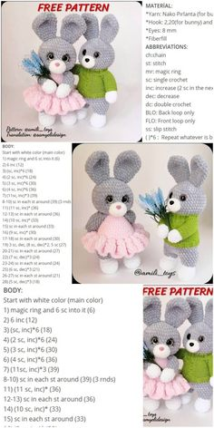 Amigurumi Velvet Bunny Crochet kostenlose Anleitung - Crochet msa plus a class pintag href explore Crochet Mignon, Crochet Bunny Pattern, Crochet Teddy, Crochet Patterns Amigurumi, Crochet Dolls, Free Crochet, Amigurumi Doll, Crochet Rabbit, Crochet Gratis