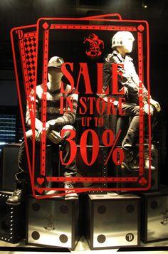 DIESEL Cards SALE Window Display 2012.   More photos: http://thebwd.com/diesel-cards-sale-window-display-2012/