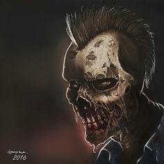 Zombie  #photoshop #digitalpainting #art #ilustration #horror #zombie