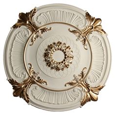 ceiling medallion is finished with metallic gold highlights. Decorate your living or dining room space by adorning you chandelier with this beautifully molded piece. Accent Ceiling, Floor Ceiling, Ceiling Tiles, Ceiling Decor, Ceiling Design, Ceiling Rose, Ceiling Trim, Ceiling Texture, Classic Ceiling