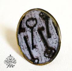 χειροποιητο δαχτυλιδι με υγρο γυαλι. handmade vintage ring