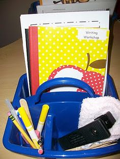 Conferring Caddy...this is a great way to have everything you might need for a student conference with you.