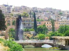 City of Hama ancient civilization Orontes River Water wheel naaorh