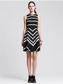 Sloan Striped Fit-and-Flare Dress