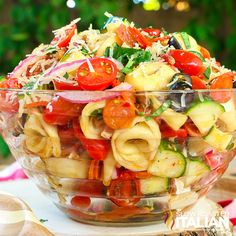 Substitute Zucchini for Cucumber, Add Roasted Red Peppers & Banana Peppers