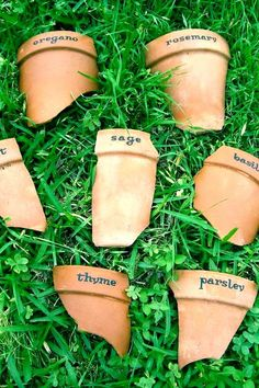 Looking for tips on how to declutter your garden this spring? I found 15 of the most creative plant markers for your garden. These DIY garden label ideas can be made out of all different materials that you most likely have lying around the house (especially if you're an avid gardener). Hadley Court Interior Design Blog by Central Texas Interior Designer, Leslie Hendrix Wood.