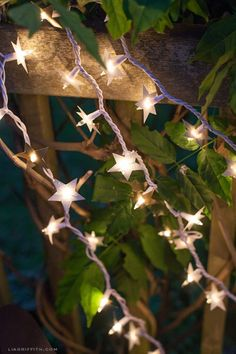 DIY Paper Foil Starry Lights For Outdoors | Shelterness
