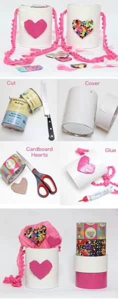 Duct Tape Baskets | via