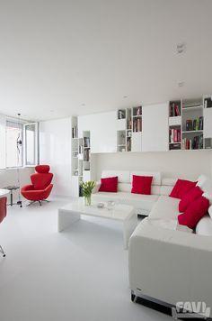Moderní obývací pokoje inspirace - Rekonstrukce panelákového bytu Praha | FAVI.cz