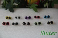 9mm  10-colors Color  Safety Eyes for crochet doll -  1 pair for each color via Etsy Amigurumi øjne