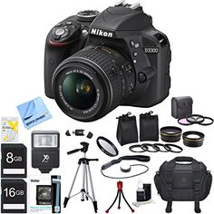 Bundle Includes: Pro .45x Wide Angle Lens w/ Macro 52mm threading (Black) Pro 2x Telephoto Lens Converter - 52mm threading (Black) 52mm UV, Polarizer & FLD Deluxe Filter kit (set of 3 + carrying case) 52mm Multicoated UV Protective Filter Bounce Zoom Slave Flash 16GB SDHC High Speed Memory Card 8GB Secure Digital SD Memory Card Hi-Speed SD USB 2.0 Card Reader Compact Deluxe Gadget Bag 57-Inch Full Size Tripod Flexible Mini Table-top Tripod Tri-fold Memory Card Wallet Lens Cap Keeper Digi...