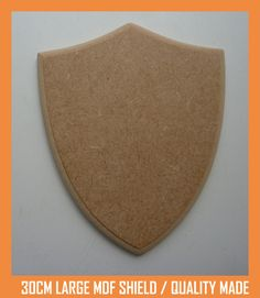 25cm MDF Large Wooden Shield Craft Shape Trophy Plaque Quality Made/Finished