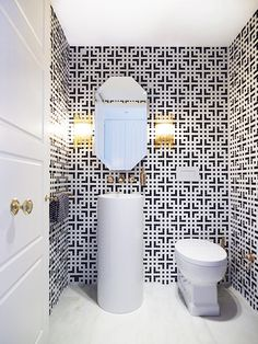 Everything You Need To Know About Bathroom Tile // geometric moasic