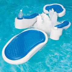 The Hydro-Massage Pool Float - Hammacher Schlemmer