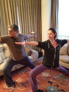 morning yoga with deepak chopra :)