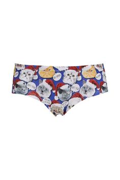 Christmas Cat Cheeky Knickers