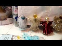 ▶ Angels made of ribbon from ACmoore and bling Angels from Michaels & Dollar store. - YouTube