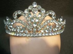 Vintage Rhinestone Tiara / Crown Very Beautiful and Well Made  #Unknown