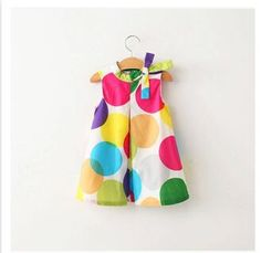 2017 new summer lovely girls dresses clothes kids wear wave bow dot colorful leisure fashion dress children clothing - Engagement Rings Dress For Girl Child, Little Girl Dresses, Girls Dresses, Cheap Dresses, Mode Batik, Mode Chanel, Dress With Bow, Girls Wear, Kind Mode