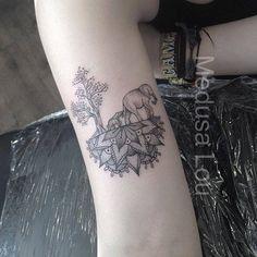 Elephant & Trees on Half Mandala tattoo by Medusa Lou Tattoo Artist - medusaloux@outlook.com