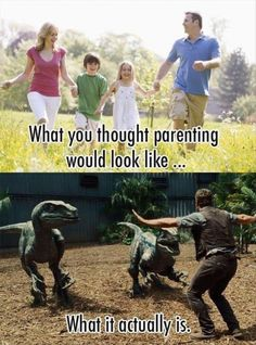 What you thought parenting would look like...
