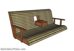 Building a wood porch swing with center console