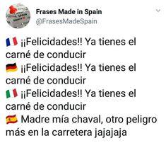 """Publicación de Instagram de Frases """"Made in Spain"""" • 12 Sep, 2018 a las 10:20 UTC - #de #frases #Instagram #Las #Publicación #Sep #Spain #UTC Spanish Memes, Marvel Memes, Photography Tutorials, Haha, Comedy, Spain, Jokes, Sayings, Funny"""