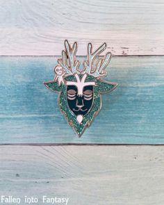 Night walker deer god enamel pin #pin #enamelpin #ghiblipins #studioghibli #princessmononoke