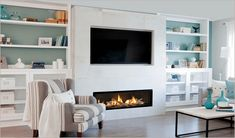 4 Sensational Tips AND Tricks: Traditional Fireplace Alcove fireplace mantle rustic.Fireplace Built Ins Decor fixer upper fireplace small spaces.Tv Over Fireplace Old House. Tv Over Fireplace, Linear Fireplace, Family Room Fireplace, Fireplace Built Ins, Double Sided Fireplace, Fireplace Cover, Shiplap Fireplace, Home Fireplace, Fireplace Inserts