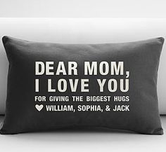 Personalized Mom Pillows from the whole family - great Mother's Day gift! (Cool Crafts For Mothers Day)