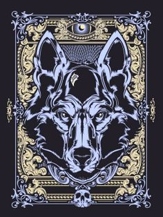 Courage (Wolf), Hydro74 Animal Series by Joshua M. Smith