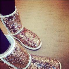 sparkle uggs...i love sparkles(: