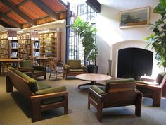 Mill Valley Library Fireplace Conversation Corner