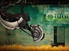 "Portal 2-""Enjoy this next test. I'm going up to the surface. It's a beautiful…"