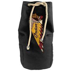Large Indian Motorcycles Shoulder Pack Bag Rope Drawstring Closure Round Bucket Bag >>> For more information, visit image link.