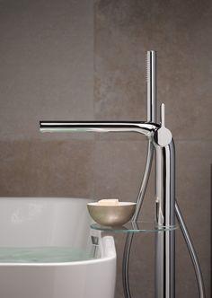 Auch die kleinen Dinge haben große Wirkung. Dieser Badewanneneinlauf ist schlicht und elegant.  Alles zum Thema Badezimmer findest auf www.wohn-dir-was.de  Bildmaterial (c) KEUCO