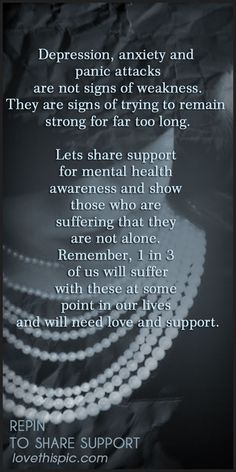 Hope- upport anxiety, depression, panic; support awareness.