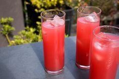 Watermelon-Soju Cocktail jug Watermelon Soju, Watermelon Cocktail, Watermelon Lemonade, Spicy Candy, Ginger Liqueur, Ginger Ale, Refreshing Summer Cocktails, Cocktail Making, Kitchens