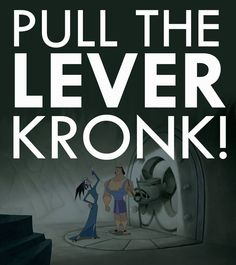 WRONG LEVER!!! Why do we even have that lever? Loooove this movie