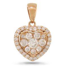 Uniquepedia.com - 0.47ct 14k Rose Gold Diamond Heart Pendant Necklace, $568.00 (http://www.uniquepedia.com/0-47ct-14k-rose-gold-diamond-heart-pendant-necklace/)