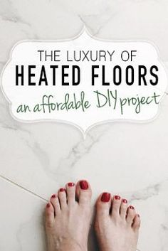 DIY radiant heat floors. Step-by-step introduction to heated floor installation.