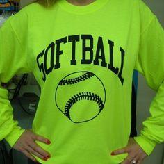 Long Sleeve Neon Softball T-shirt (Size=Small) by Sports For Her, http://www.amazon.com/dp/B004GARKCG/ref=cm_sw_r_pi_dp_58Q0qb1JC5WMA