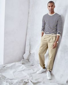 fe0d78b08e8a Wallace   Barnes double-pleated relaxed-fit military chino pant