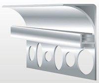 Zeige Details für Aluprofil für Deckenbeleuchtung - 50 mm hoch - Eloxiert oder Weiß für Fliesen