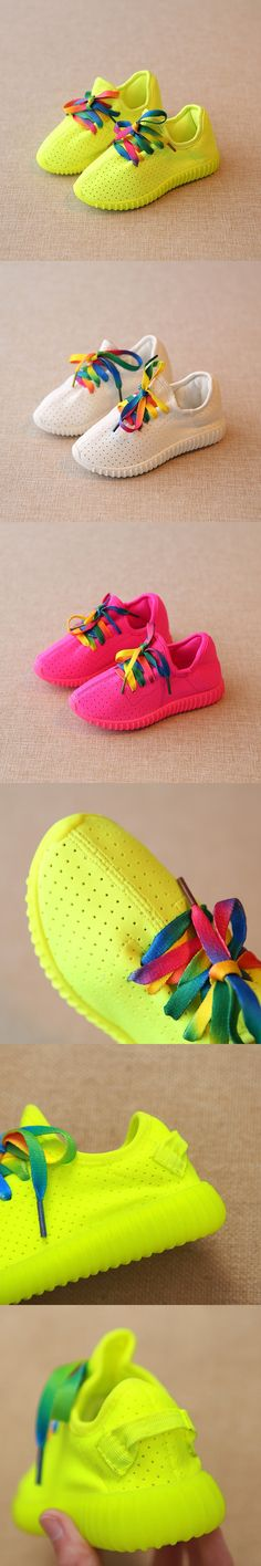 2016 New Autumn summer style children canvas shoes girls boys sports shoes antislip rainbow laces kids shoes breathable sneakers